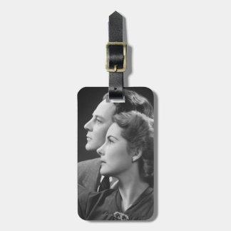 Posing Couple Bag Tag