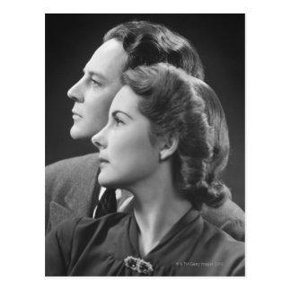 Posing Couple Postcard