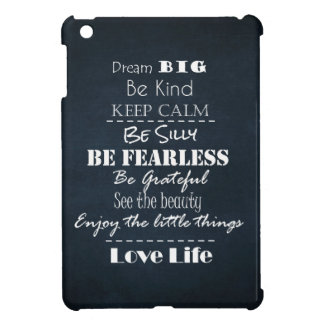 Positive Attitude Affirmations Quotes iPad Mini Cases