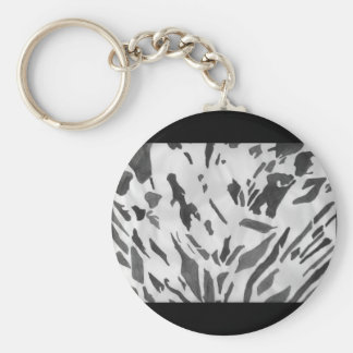 Positive Negative Dried Flowers Watercolor Key Ring
