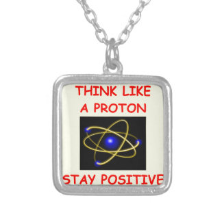 positive silver plated necklace
