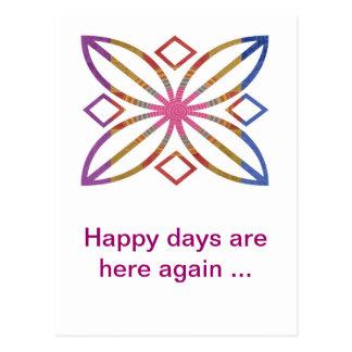 Positive Strokes - Display Happy Designs Postcard