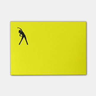 Post It Note with Stretching Lady Post-it® Notes