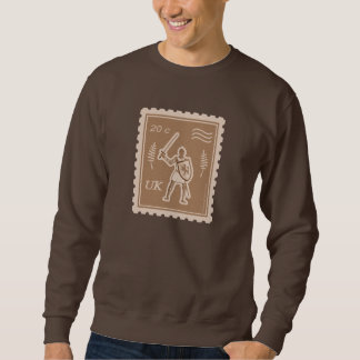 Postage Stamp with Medieval Knight - Sweatshirt