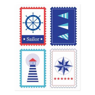 Postal mare Stamps : Original design Postcard