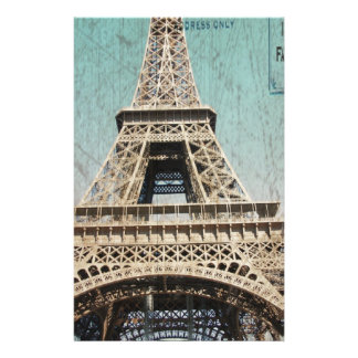 Postcard From Paris EIffel Tower Stationery