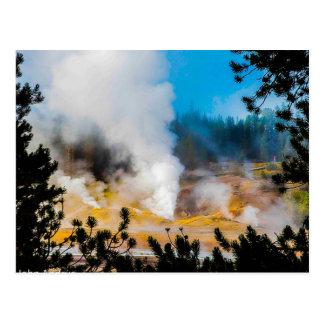 Postcard Geysers Yellowstone