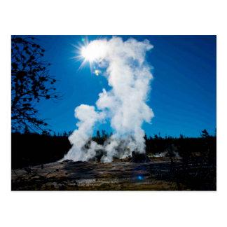 Postcard Geysers Yellowstone NP