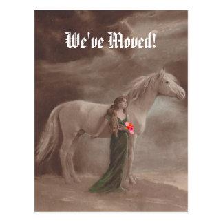 Postcard Memorable We've Moved New Address Horse
