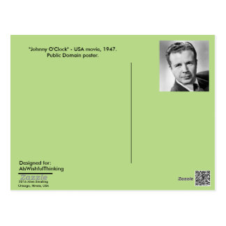 "Postcard - Movie poster ""Johnny O'Clock,"" 1947"