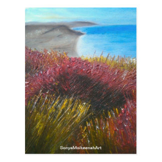 Postcard of Dorset coastal flowers