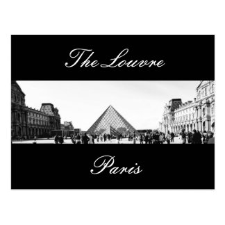 Postcard of the Louvre museum in Paris