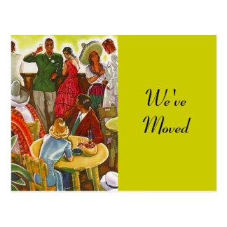 Postcard Retro Festive Southwest Moved New Address