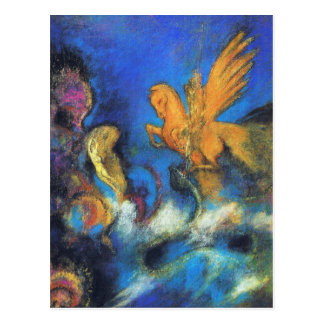 Postcard Roger Angelica 2 by Odilon Redon