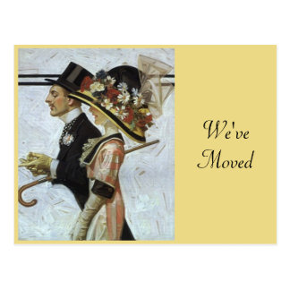 Postcard Stylish Vintage We've Moved New Address