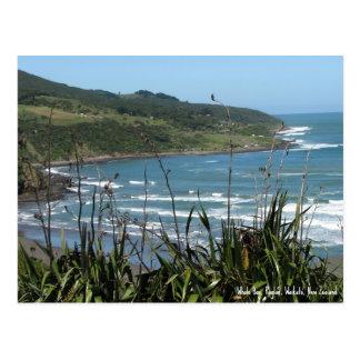Postcard, Whale Bay, Raglan, New Zealand Postcard