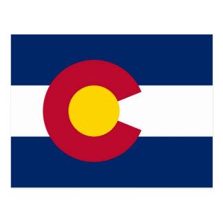 Postcard with Flag of Colorado State - USA
