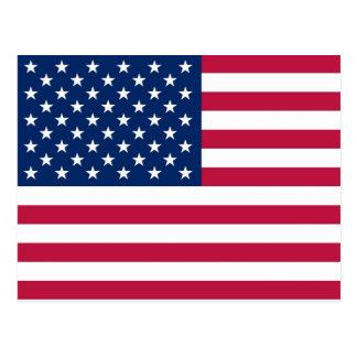 Postcard with Flag of the USA