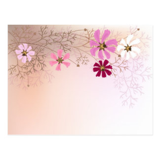 Postcard with tender floral background