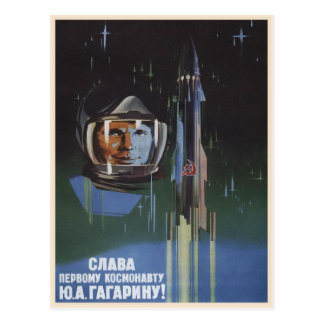 Postcard with Vintage Soviet Union Propaganda