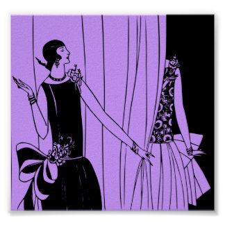 Poster, 1920 Art Deco Fashion