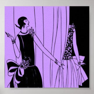 Poster, 1920 Art Deco Fashion Poster