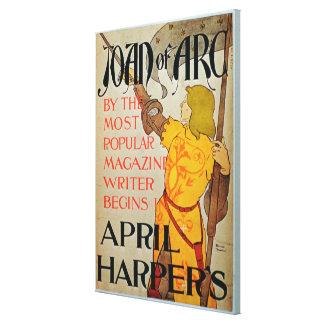 Poster advertising 'Joan of Arc' in April Harper's Canvas Print