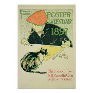 Poster Calendar, pub. by R.H. Russell & Son, 1897