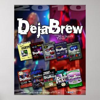 Poster- DejaBrew band Tour 2010-1 Poster