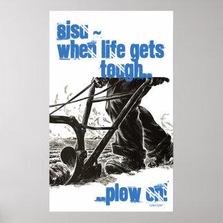 Poster Finnish Finn Sisu Tenacity Tough Plow On