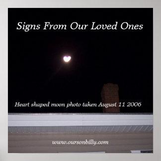 Poster heart shaped moon