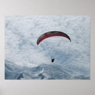 Poster: Paraglider Chamonix Valley France Poster