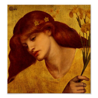 Poster Sancta Lilias 1874 by Rossetti