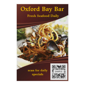 Poster Template Oxford Bay Bar