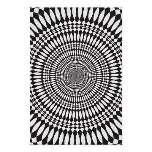 Poster: Vertigo: Black & White Abstract