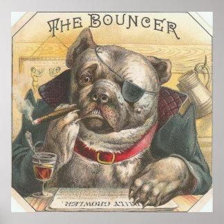 Poster Vintage Dog Bouncer Bar