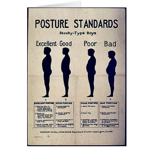Posture Standards Greeting Card