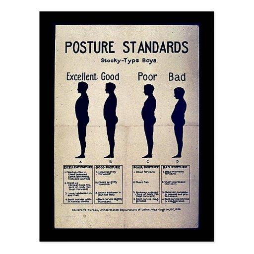 Posture Standards Postcards