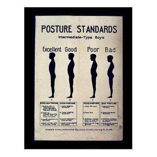 Posture Standards Postcard