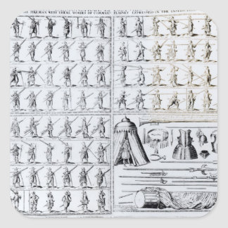 Postures for Musketeers and Pikemen Square Sticker