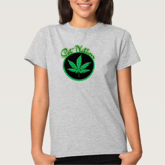 pot nation weed  leaves weed lover t-shirt design
