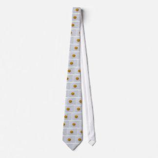 Potato macro as background with salt tie