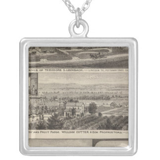 Pottawatomie County Farm, Junction City, Kansas Silver Plated Necklace