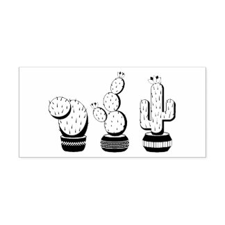 Potted Cacti - Cactus Plants Rubber Stamp
