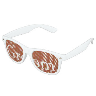 Potters Clay with White Wedding Detail Retro Sunglasses