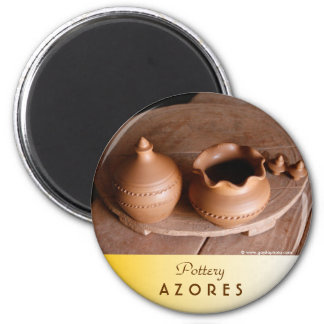 Pottery 6 Cm Round Magnet