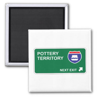 Pottery Next Exit Refrigerator Magnets