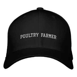 Poultry Farmer Embroidered Baseball Cap