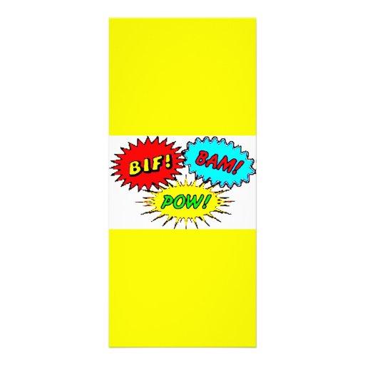 Pow Bif Bam Rack Cards