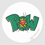 Pow Classic Round Sticker